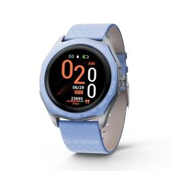 V18 1.22 Inch Ips Color Screen Smart Watch Support Call Reminder heart Rate Monitoring blood Pressure Monitoring sedentary Reminder Blue