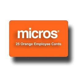 POS-Depot.com 25 Orange Micros Employee Swipe Cards - Amazon Prime Shipping