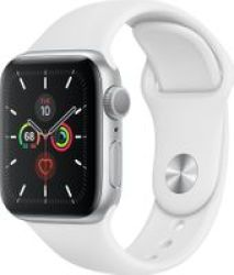 Apple Watch Series 5 40MM - White Sport Band Silver