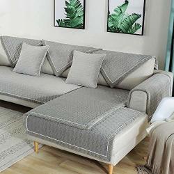 Velvet Couch Cover Anti Slip Sectional
