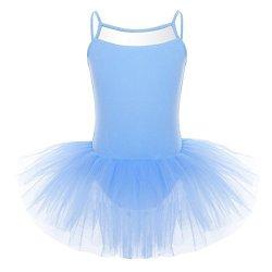 Lisianthus Girls Ballet Dress Gymnastics Leotard with Tutu Skirt