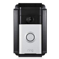 Wasserstein Solar Charger Mount Compatible With Ring Video Doorbell 1 Weatherproof Black