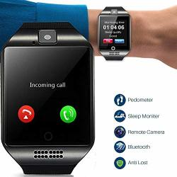SMART WATCH Bluetooth Smartwatch Touch Screen Wrist Watch Sports Fitness Tracker With Camera Sim Sd Card Slot Pedometer Compatible With Iphone Ios Samsung LG