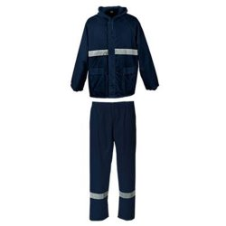PINNACLE Navy Rubberised Rain Suit With Reflective Medium