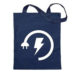 Energy Low - Electricity Boost Jute School Fitness Shopping Bag Long Handle