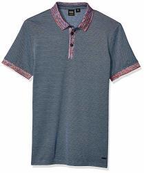 Boss Orange Men's Punch Short Sleeve Polo Shirt Dark Blue L