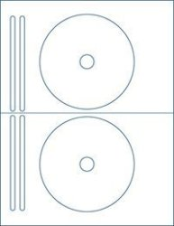 200 8832 Compatible Full F Cd DVD Labels 62300 100 2-UP Sheets