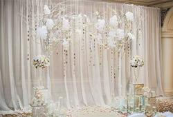 Yeele 10X6.5FT Wedding Backdrop Wedding Ceremony Backdrops For Photo Arch Floral Chair Bouquet Photography Background Marriage Celebration Party Decor