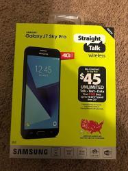Straight Talk Samsung Galaxy J7 Sky Pro 16GB Prepaid Smartphone Black Locked