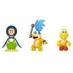 Nintendo Mario Bros U Micro Figure 3-PACK : Larry Koopa penguin Luigi red Koopa Troopa
