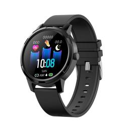 X20 1.3 Inch Full Circle Tft Screen Smart Sport Watch IP67 Waterproof Support Real-time Heart Rate Monitoring Sleep Monitoring Bluetooth Alarm Clock Black