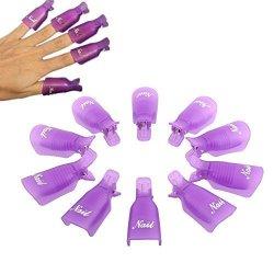 Orino Plastic Nail Art Polish Soak Off Remover Wrap Cleaner Clip Cap Clamps Grip Gel Nails Remover Nail Gel Polish Remover Manicures Durable Reusable