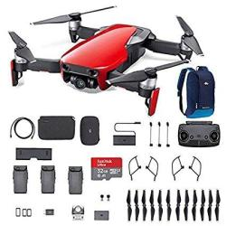 DJI Mavic Air Fly More Combo Flame Red Portable Quadcopter Drone With 32G Sd Card And More