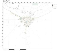 Zip Code Wall Map Of La Junta Co Zip Code Map Laminated