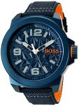 Boss Orange Men's 'new York' Quartz Resin And Canvas Casual Watch Color:blue Model: 1513353