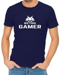 Retro Gamer Mens Navy T-Shirt Xx-large