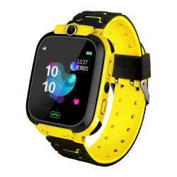 Q12B 1.44 Inch Color Screen Smartwatch For Children Support Lbs Positioning Two-way Dialing One-key First-aid Voice Monitoring Setracker App Yellow