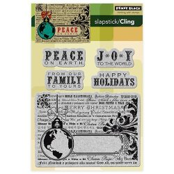 Penny Black Inc. Penny Black 40-167 Peace On Earth Cling Rubber Stamp