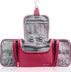 """TRAVANDO XXL Toiletry Bag For Women """"maxi"""" With Hanging Hook Large Wash Bag Many Pockets Travel Set Super-size Travel Toiletry Kit"""