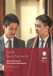 Cima E1 Organisational Management - Exam Practice Kit Paperback