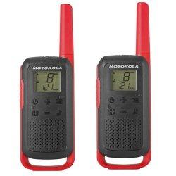 Motorola Tlkr T62 Walkie Talkie Twin Pack Black red