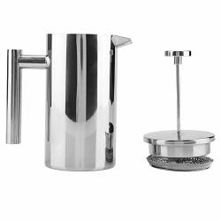 Coffee Pot - Delaman Double Walled Stainless Steel Coffee Maker With Filter French Press Coffee Kettle Tea Pot Capacity : 1000ML