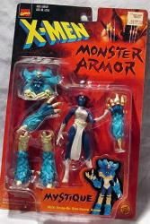 Toy Biz X-men Monster Armor: Mystique Poseable Action Figure With Snap-on She-beast Armor