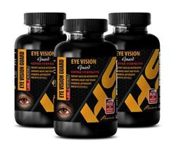 Eye Support Supplements - Eye Vision Guard Extra Strength 24 Mg - Bilberry Herbal Supplement - 3 Bottles 600 Softgels