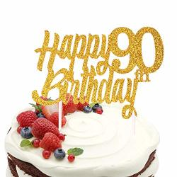 Magnificent Sunny Zx Gold Happy 90Th Birthday Cake Topper Hello 90 Cheers To Personalised Birthday Cards Veneteletsinfo