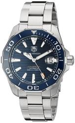 Tag Heuer Men's 'aquaracr' Swiss Automatic Stainless Steel Sport Watc