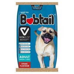 Bobtail - Medium large Adult Dog Food 8KG Steak