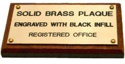 Brass Plaque 100X50MM