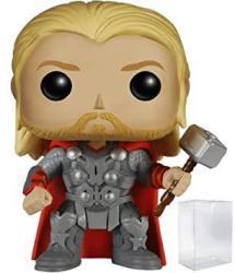 Funko Pop Marvel: Avengers 2 - Thor Vinyl Figure Bundled With Pop Box Protector Case