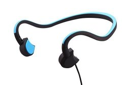 Powerrider Bone Conduction Wired Sports Headsets 31G Ultralight HD Stereo Sound Sweatproof Headsets With Noise Reduction Microphone Blue