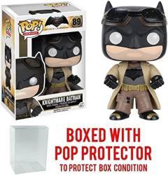 Funko Pop Movies: Dc Comics Batman Vs Superman: Dawn Of Justice - Knightmare Batman 89 Vinyl Figure Bundled With Pop Box Protector Case