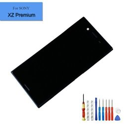 For Sony Xperia Xz Premium G8141 G8142 Lcd Touch Screen Display Digitizer With Frame And Repairing Tools Black