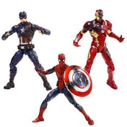 MARVEL 6-INCH Legends Captain America: Civil War Action Figure 3 Pack Spider-man Captain America And Iron Man Mark 46