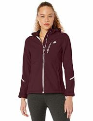 Reebok Women's Softshell Active Jacket Cinched Back Cranberry M