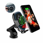 Maxjoy Wireless Car Charger Qi Fast Charger Car Mount 10W Wireless Car Charger Infrared Sensor Phone Holder Compatible For Iphon