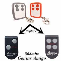 Calvas Amigo Genius Garage Door Gate Remote Control Cloning 868MHZ Command Rf Rolling Door And Barrier Gate Remote Control Key Fob