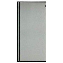 """Magzo Magnetic Screen Door 38X82IN Entry Front Door Curtain Upgrade Left Side Opening Door Mesh With Magnets-black Fits Door Size Up To 38""""X82"""