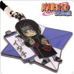 Naruto Metal Ninja Star Netsuke Cell Phone Charm Itachi