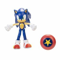 """Sonic The Hedgehog 4"""" Modern Sonic Action Figure With Star Spring Accessory"""