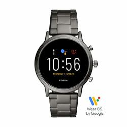 Gen Fossil 5 Carlyle Hr Heart Rate Stainless Steel Touchscreen Smartwatch Color: Smoke Model: FTW4024