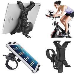 Tablet Holder For Spinning Bike Universal Ipad Mount For Indoor Gym Equipment Treadmill Exercise Bike Adjustable 360 Swivel Brac