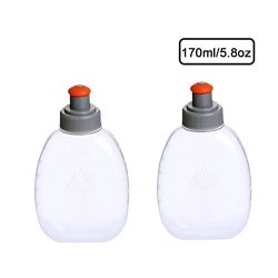 JEELAD BPA-Free Leak-Proof TPU Soft Running Water Bottles for Hydration Pack Vest Ideal for Running Hiking Cycling