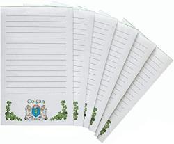 USA Colgan Irish Coat Of Arms Notepads - Set Of 6
