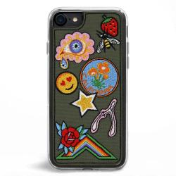 Zero Gravity Apple Iphone 7 8 Jardin Wallet Phone Case - Embroidered Floral Design - 360 Protection Drop Test Approved