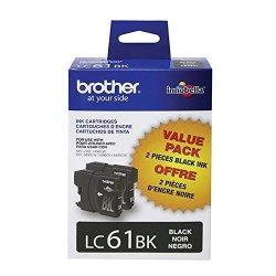 Brother LC61-2PKS Black Original Ink Standard Yield 2X 450 Yield