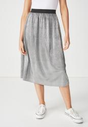 ab3bea7dfaa6 Cotton On Woven Daria Pleated Skirt - Silver Metallic Prices | Shop ...